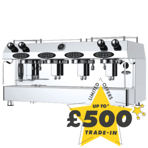 Up to £500 trade-in against the purchase of this new Fracino Contempo 4 Group Espresso coffee machine