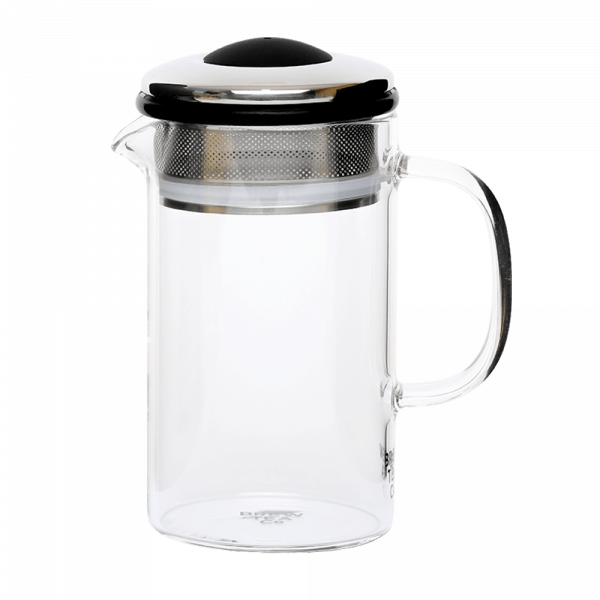 Brew Tea Co Glass Tea Pot Black