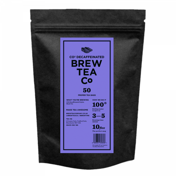 Brew Tea Co Decaffeinated Tea 50 Bags Pouch
