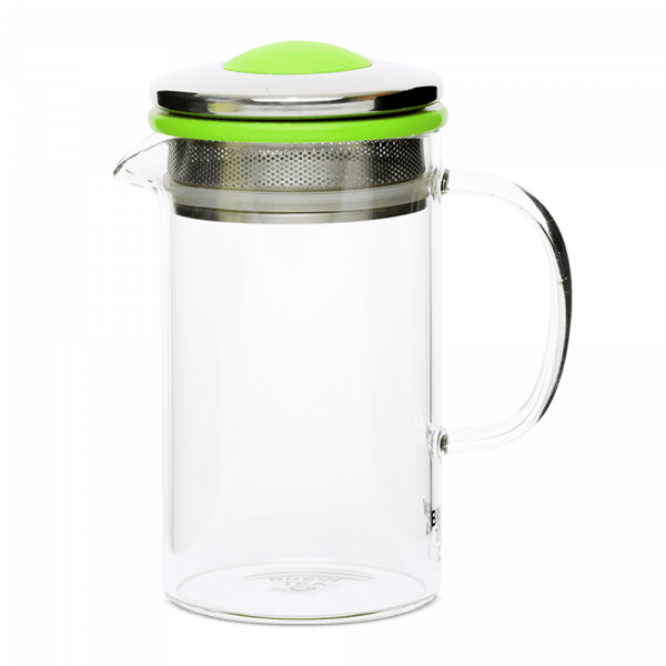 Brew Tea Co Glass Tea Pot Green