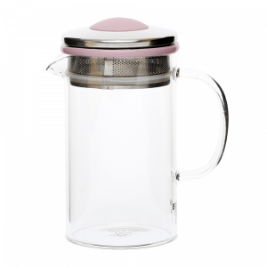 Brew Tea Co Glass Tea Pot Grey