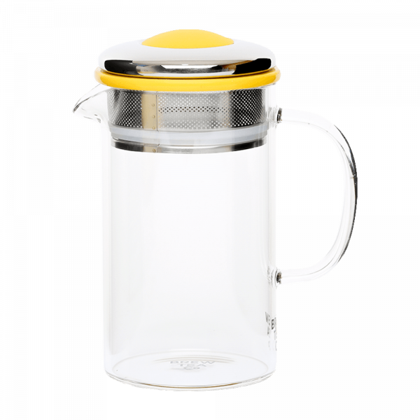 Brew Tea Co Glass Tea Pot Yellow
