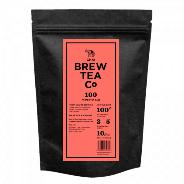 Bew Tea Co Masala Chai 100 Tea Bags Pouch