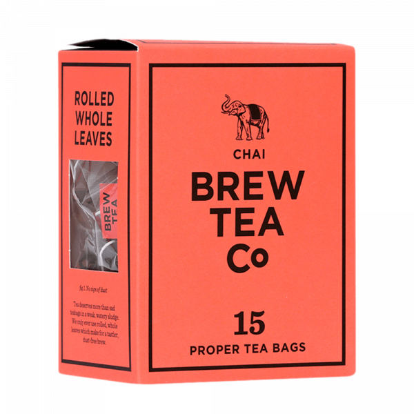 Brew Tea Co Masala Chai Box of 15 Proper Tea Bags