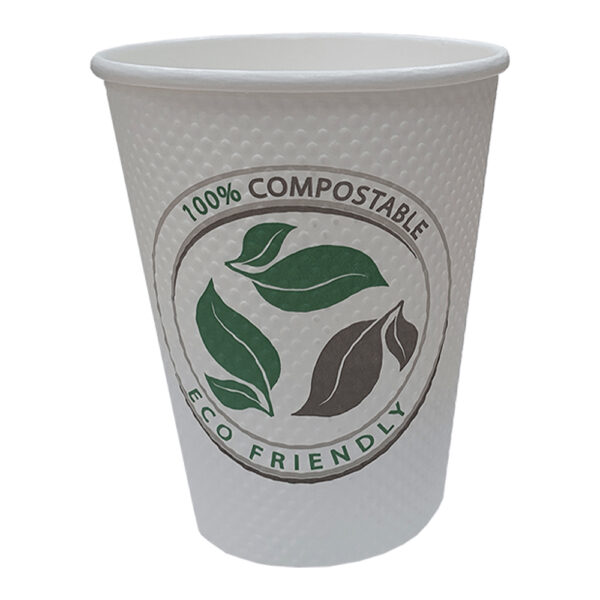 12 oz Bubble Texture Double Wall Compostable Cup