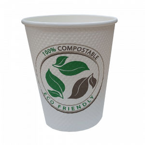 8 oz Bubble Texture Triple Wall Compostable Paper Cup