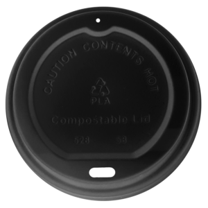 Black PLA Compostable Sip Lid
