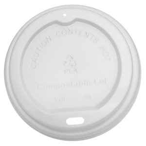 White PLA Sip Lid for 12 oz and 16 oz paper cups