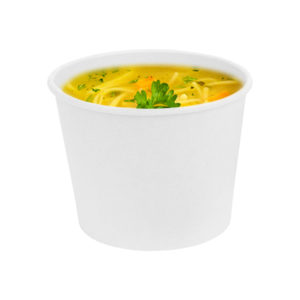 12 oz squat White Kraft Paper Container Noodle