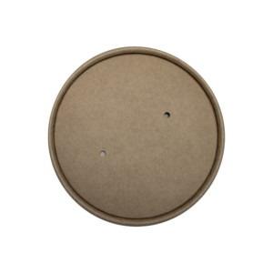 32oz PLA Brown compostable kraft paper Lid