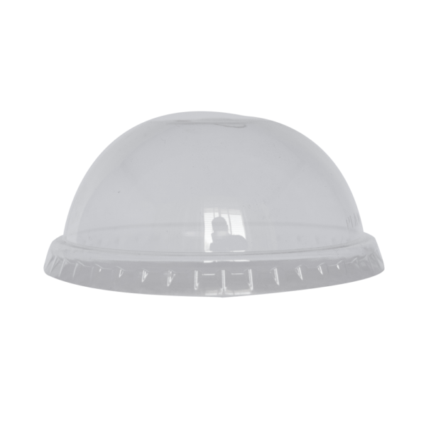 Clear CPLA Domed lid for 12 oz to 16 oz clear cup