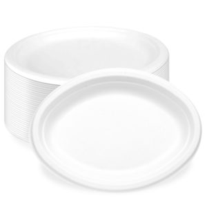Big Oval Bagasse Paper Plate