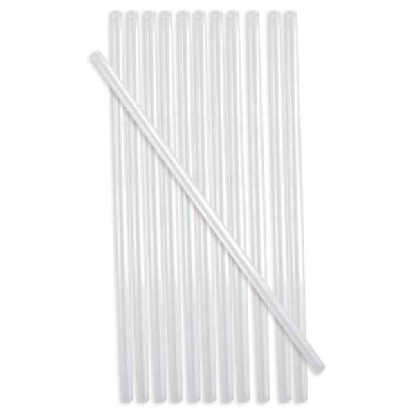 Solo Monouso 8 inch CPLA Clear Drinking Straws