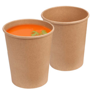 Brown 12 oz Tall Kraft Paper Container 2