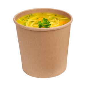 Brown 16 oz squat Kraft Paper Container Noodle