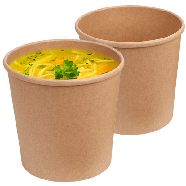 Brown 26 oz Kraft Paper Container 2