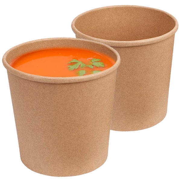 Brown 32 oz Kraft Paper Container 2