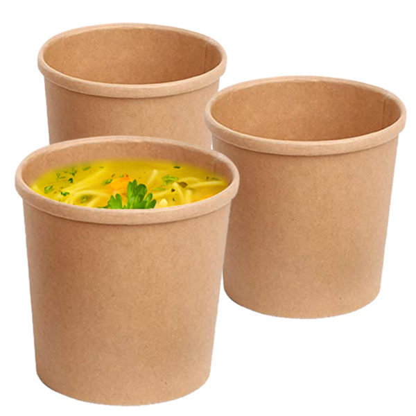 Brown 8 oz Tall Kraft Paper Container 3
