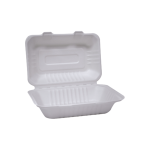 Baggase Clamshell 8 inch Tray