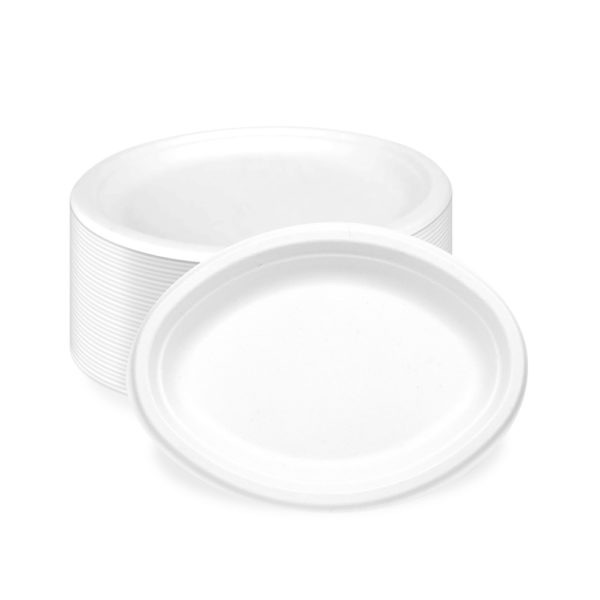 Oval Bagasse Small Paper Plate