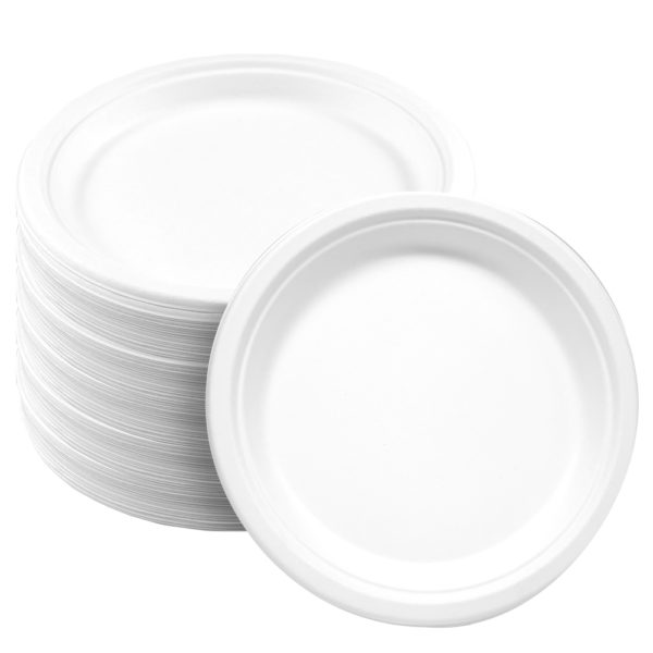 Round Bagasse Paper Plate 9 inch